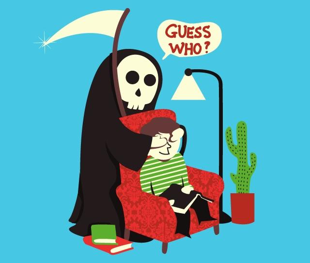 Funny Grim Reaper Cartoon Guess who