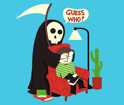 Funny Grim Reaper Cartoon Guess who