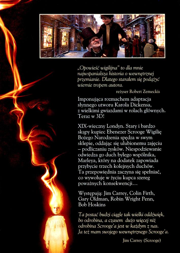 Ulotka filmu 'Opowieść Wigilijna (tył)'