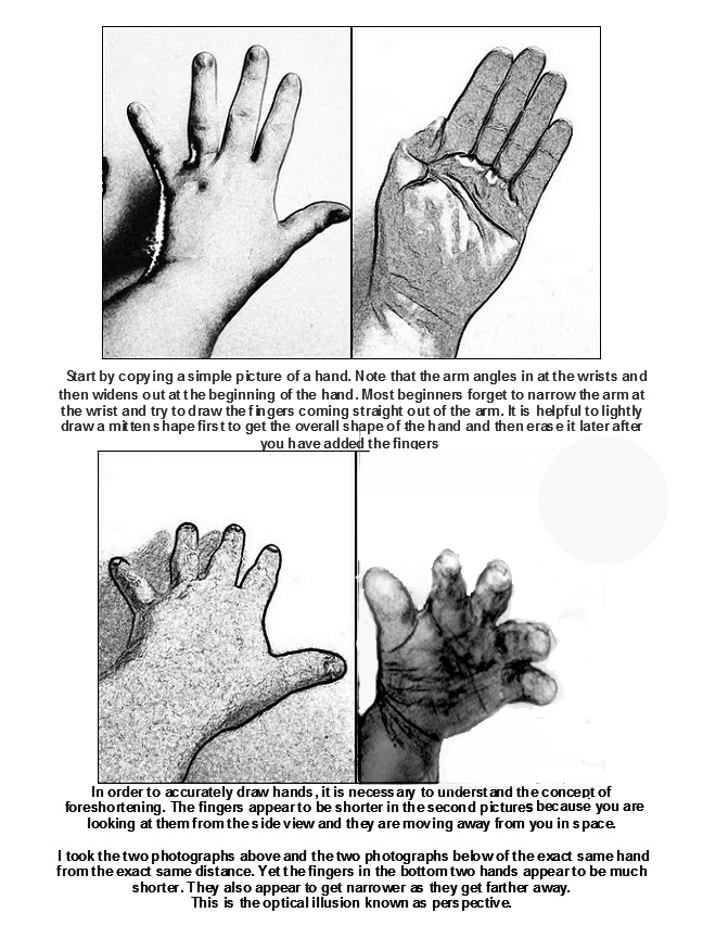 The Helpful Art Teacher HOW TO DRAW HANDS – Middle School Art Worksheets