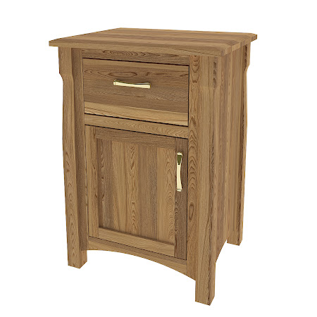 Catalina Nightstand with Door, Rustic Oak