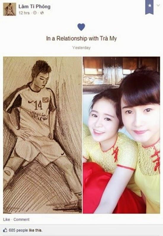 Bạn gái 17 tuổi xinh đẹp của tuyển thủ U21 Việt Nam và Lâm Ti Phông