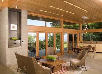 5 Дизайн интерьера деревянного дома в Вашингтоне, США ФОТО