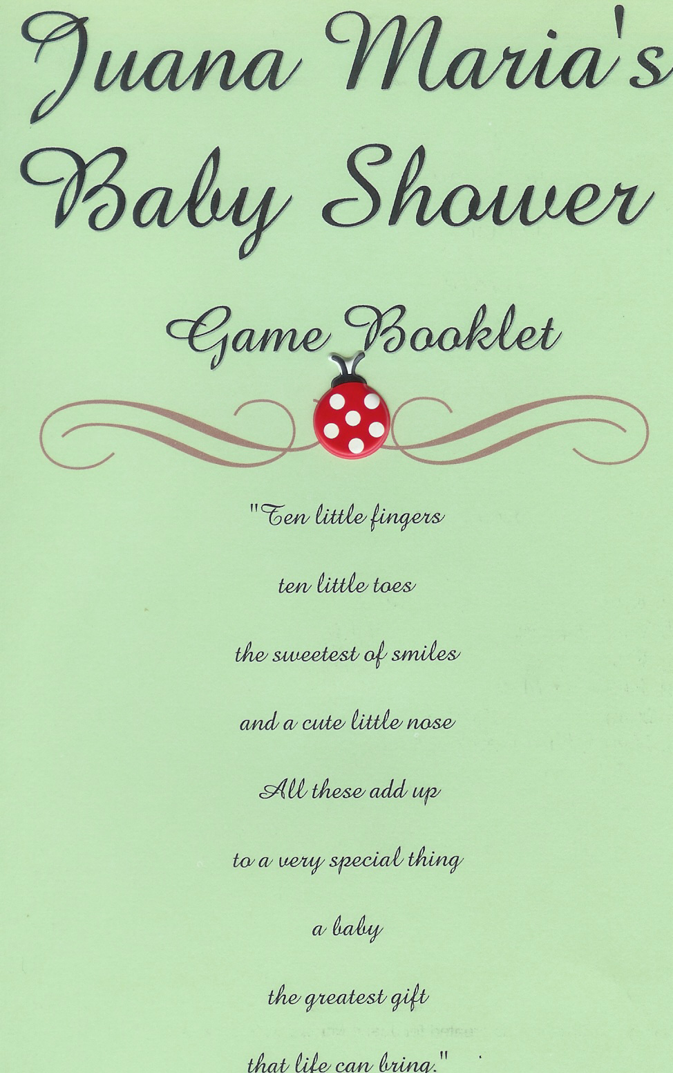 baby shower game booklet template - ester a creations blog baby shower games