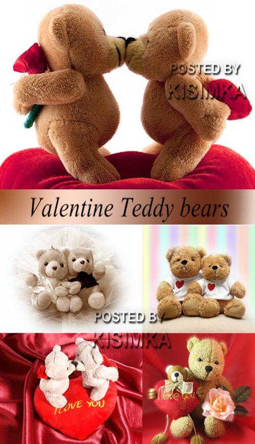 Stock Photo: Valentine Teddy bears