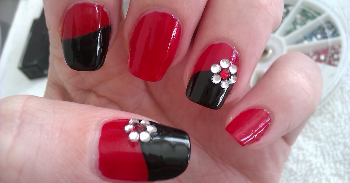 Nail Design: Nail Art Design Black And Red