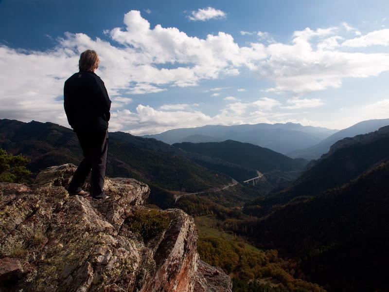 Des del mirador contemplant la vall del riu Gréixer