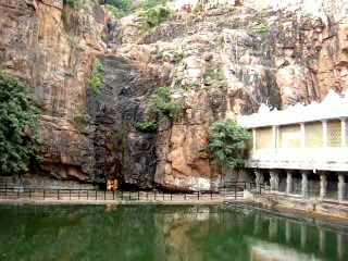 Kapila theertham is a sacred place with an ancient Shiva temple and it has a beautiful waterfall.
