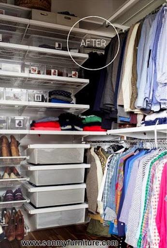 Mách bạn cách biến chỗ bừa bộn thành tủ quần áo gọn gàng-10