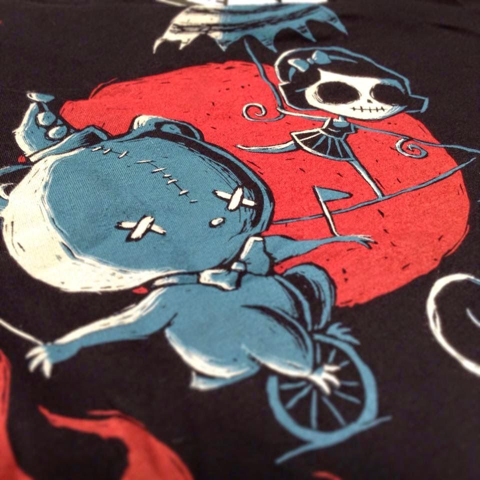 circus tshirt, freakshow tshirt, horror circus, skeleton circus, skull circus, nightmare circus, underworld circus