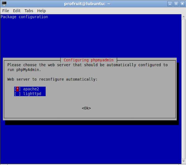 Инсталация на phpMyAdmin