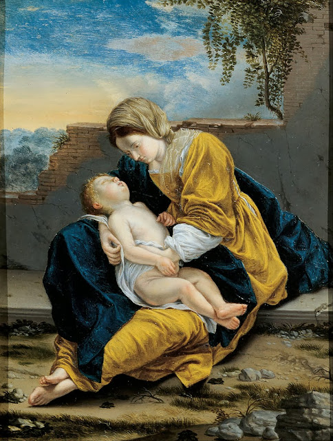 Orazio Gentileschi - Madonna and Child in a landscape - Google Art Project