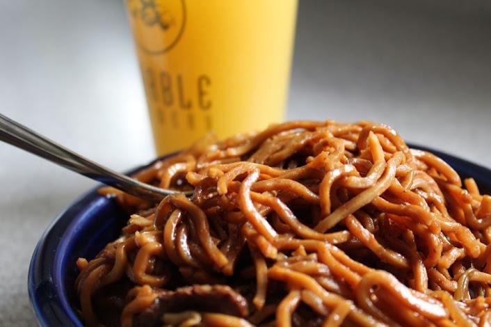orange juice and lo mein
