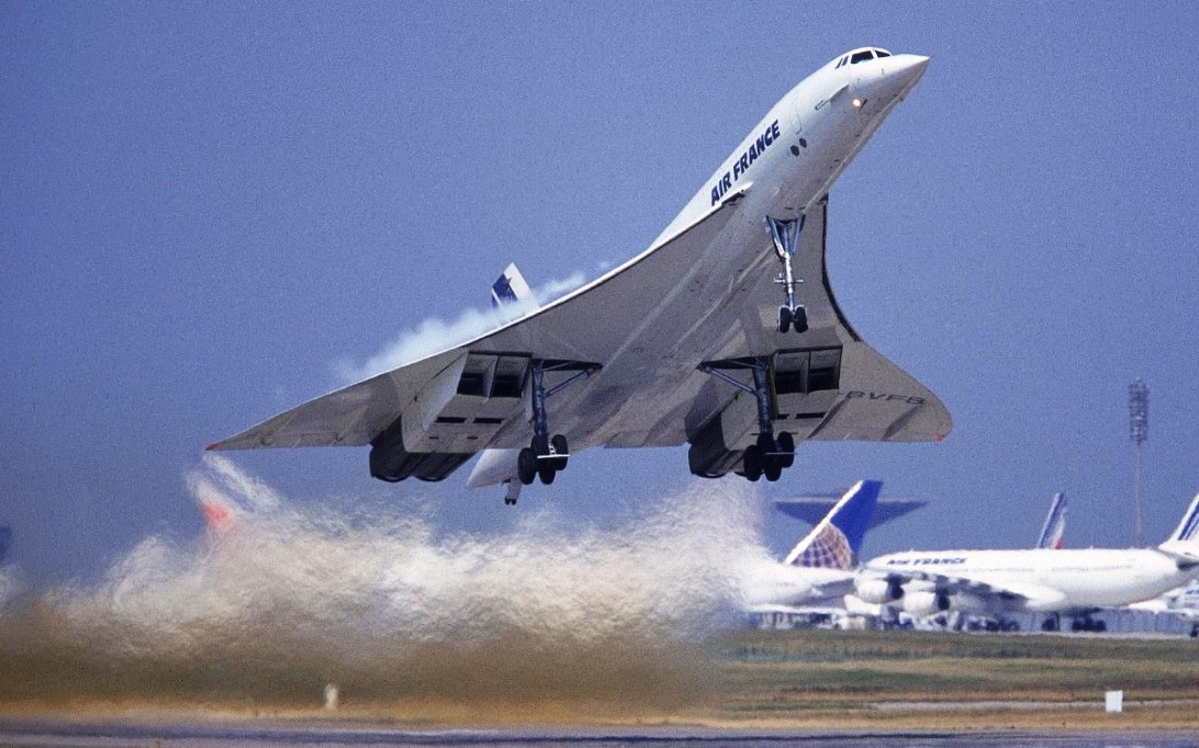 Concorde Supersonic Aircraft Wallpaper 1