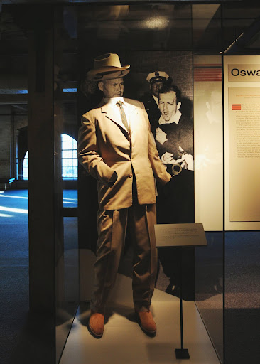 Leavelle suit exhibit, Sixth Floor Museum. From Who Killed JFK?
