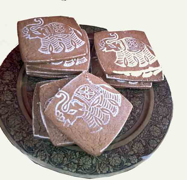Party ideas - Block printing onto cookies