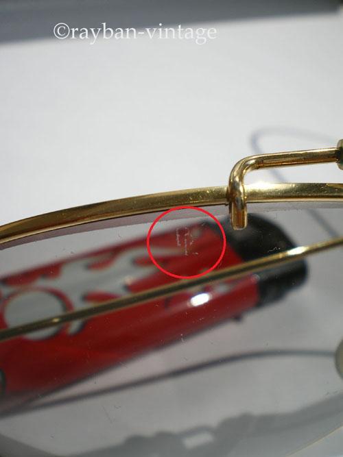 Détail de la gravure BL rayban outdoorsman photochromic 58mm