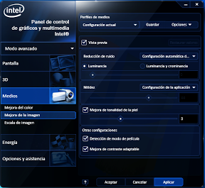 Interface Intel HD4000