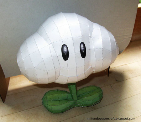 Super Mario Galaxy Papercraft Cloud Flower