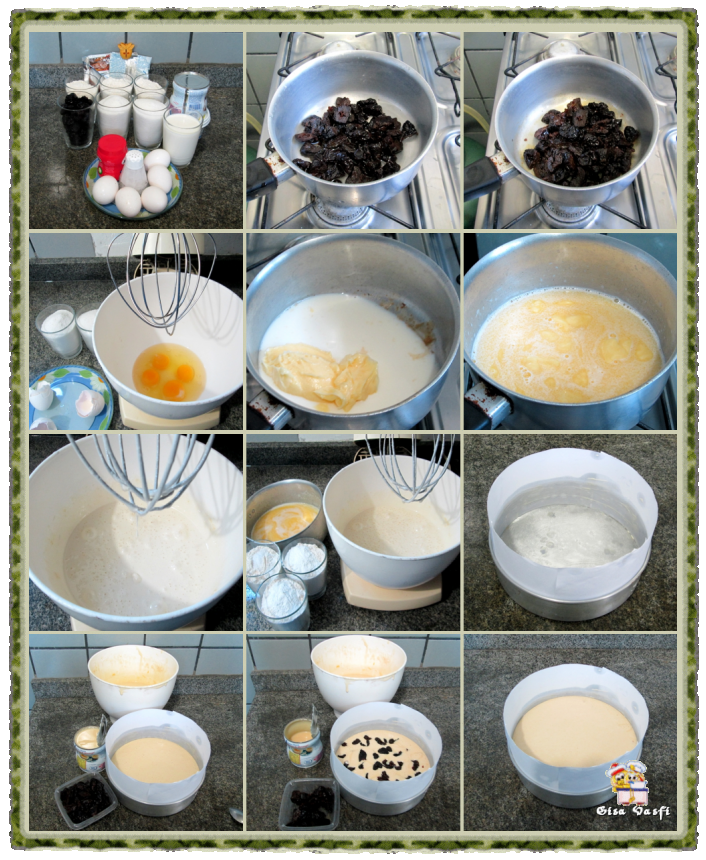 Bolo de ameixa com doce de leite 3