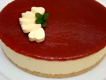 falsk cheesecake recept