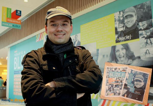 Maciej z Ruszaj w Drogę bierze udział w projekcie Bliżej - portret współczesnych gdynian