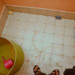 Ciekawostka. Toaleta... bez toalety. Wprawiła nas w niemałe zakłopotanie.