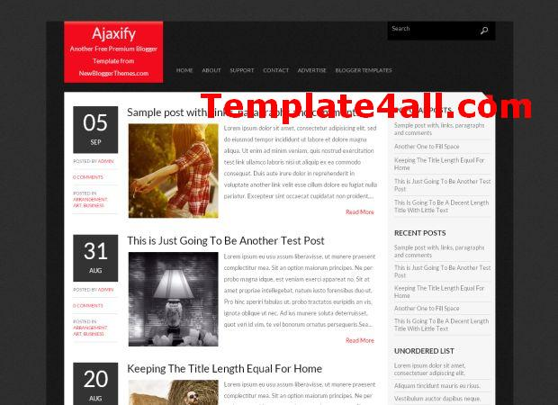 Ajax News Magazine Black Blogger Template