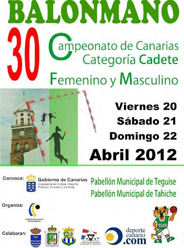 Cartel XXX Campeonatos de Canarias Cadetes
