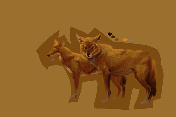 digital painting animal tutorial