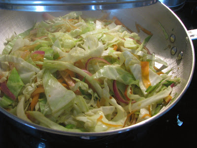sauteing cabbage