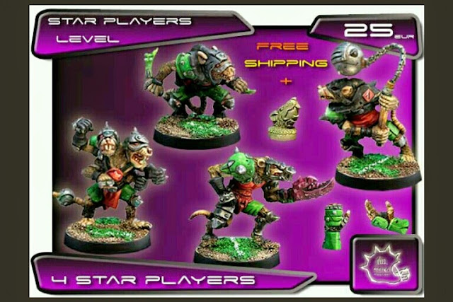 Meiko Miniatures Star players Ratmens para Blood Bowl