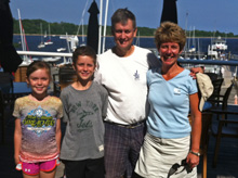 J/30 Lusty family sailing off New Jersey