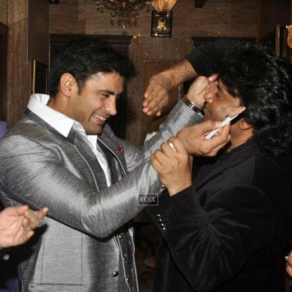 Sangram Singh gets clicked during his birthday party, held at Churchgate, on July 20, 2014.(Pic: Viral Bhayani)