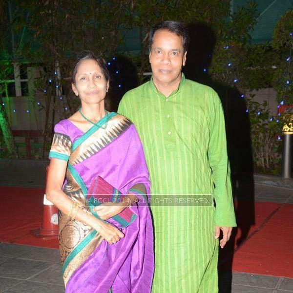 Sandhya and Chandrapal Choukasey at Abhinav-Ritu Jaiswal's wedding, held in Nagpur.