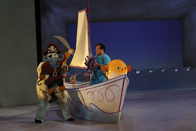 Caety Sagoian, Khanh Doan and Don Darryl Rivera in Harold in the Purple Crayon at Children's Theatre Company. Photos by Chris Bennion.