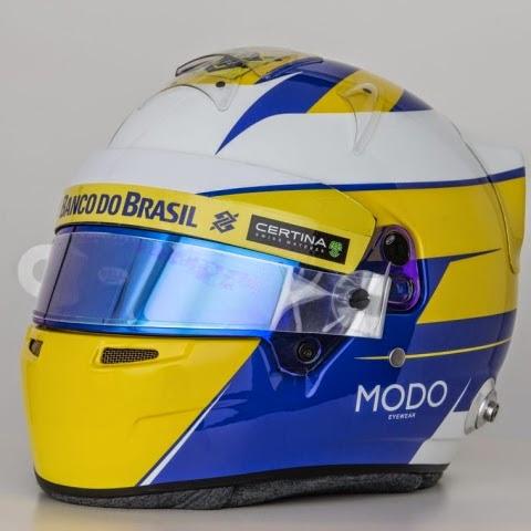 Tanta Svezia nel casco di Ericsson, identico a quello presentato nel 2014