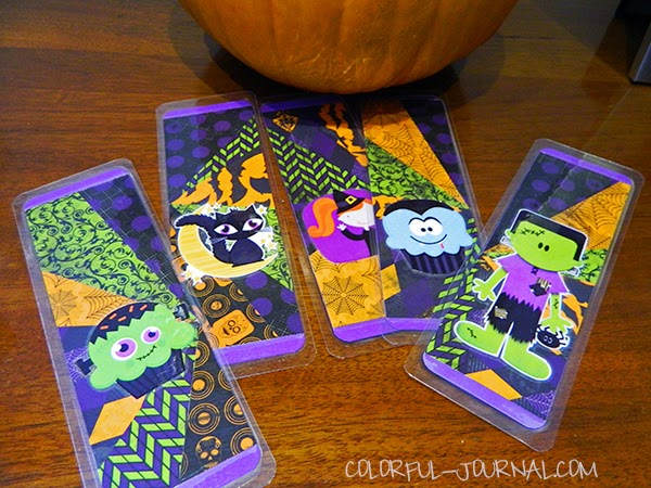 halloween scrapbooking cardmaking book separator bo bunny fright delight
