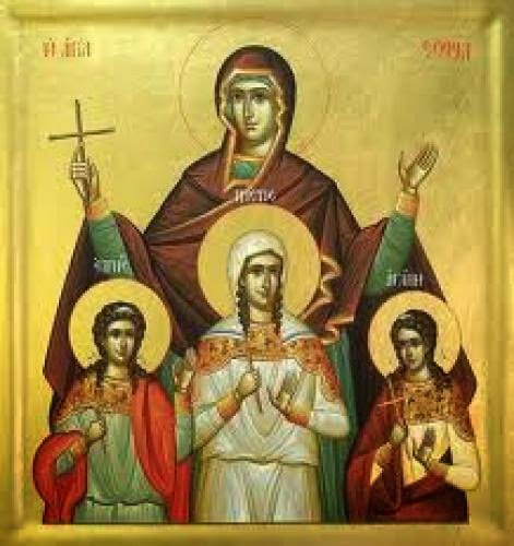 Sts Sophia Faith Hope And Love As A Model For Our Lives