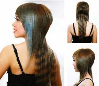 Day cat toc nu co ban kieu toc duoi ca Dạy cắt tóc nữ cơ bản, Kiểu tóc ngang chúi tầng cao