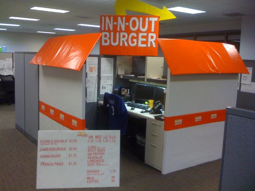 funny cubicle restaurant