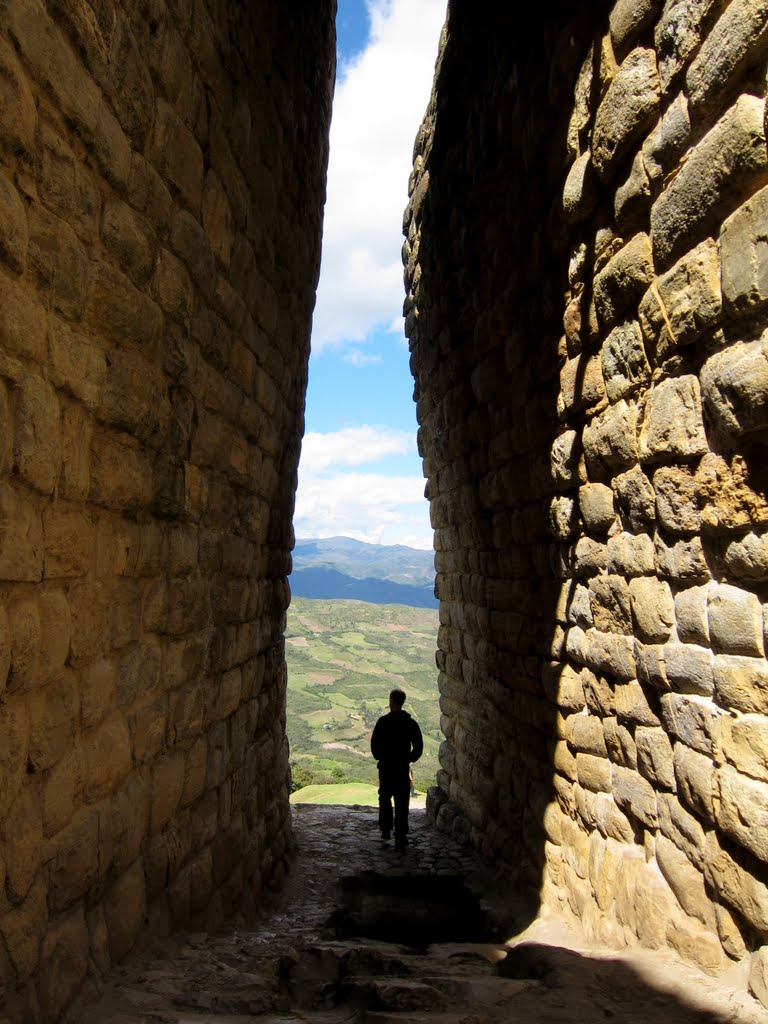 Entrance to Kuelap fortress, Chachapoyas, Peru