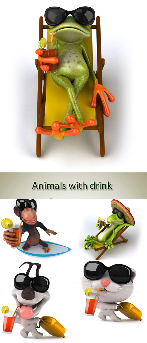 Animals with drink