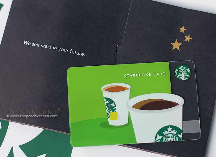 Starbucks Card Giveaway | www.thepeachkitchen.com