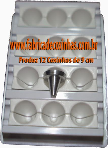 Fabrica de Coxinha com 9 Formas de 9 cm para Bares