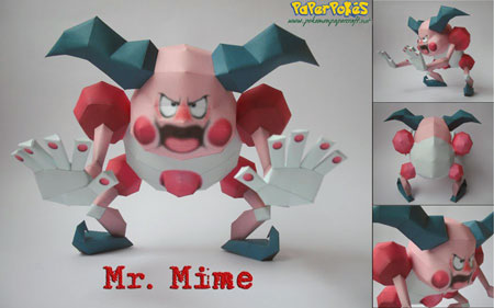 Pokemon Mr. Mime Papercraft