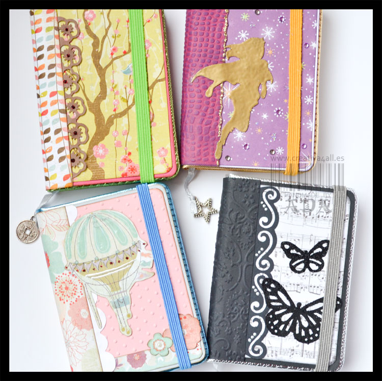 Creativa4allscrapbooking libretas en lote creativa4all - Archivadores decorados ...