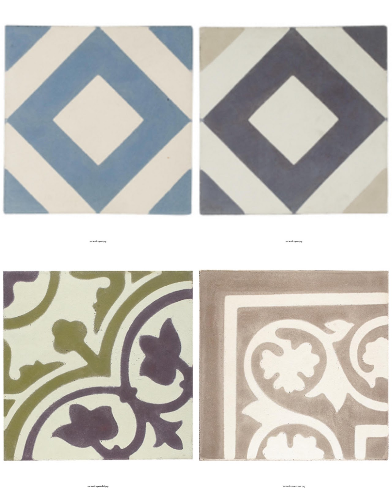 Tiles decorexia quatrefoil and vine design fired earth dailygadgetfo Images