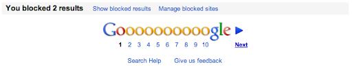 eliminar webs google