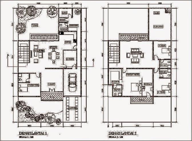 desain denah rumah minimalis modern gallery taman minimalis